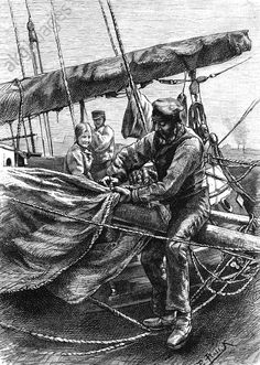 Setting a traditional sail