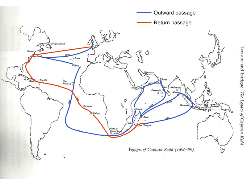 The voyages of Captain Kidd, 1696 – 1699