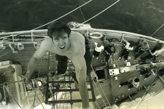 A young Keith Lees-Smeaton goes aloft